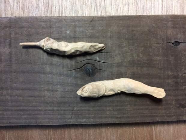 Деревянные муляжи — когда грушу точно не скушать
