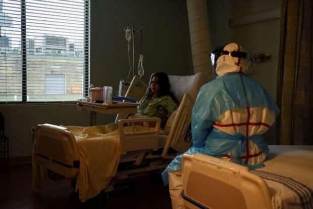 Как выглядит ковидный госпиталь в США