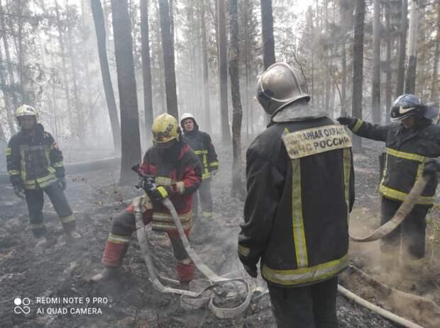 Пожарные на передовой
