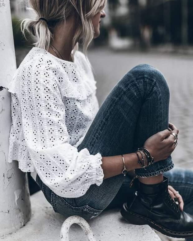 30 белых блузок из шитья