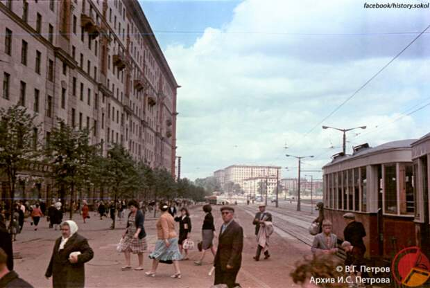 Ретро-фото: Ленинградский проспект в начале 60-х