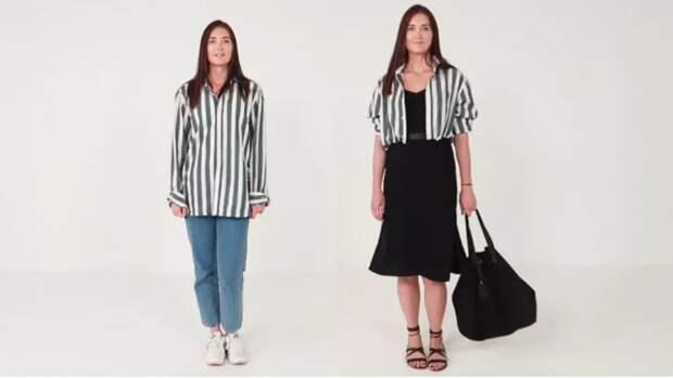 Новые способы носить рубашку или блузку