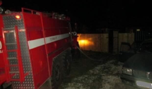 На ночном пожаре в Оренбурге погибли мужчина и женщина