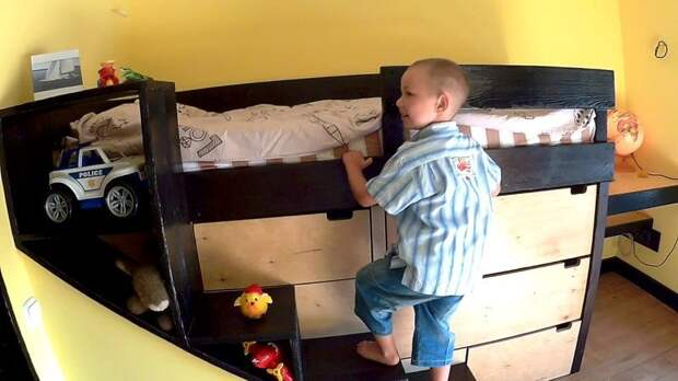 Детская кровать своими руками DIY или Сделай сам, детская кровать, детская спальня, кровать, мастер-класс, своими руками