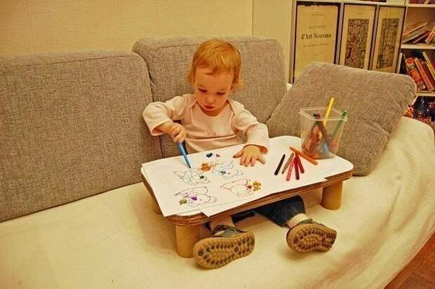 Картонный столик для творчества Diy