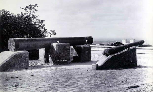 Османская большая кулеврина (василиск) «Лайлам», брошенная у Диу в 1538 году. Её железное ядро весило 105 португальских (150 венецианских) фунтов. Снимок 1895 года - Война Священной Лиги в 1539 году: падение Кастельнуово | Warspot.ru