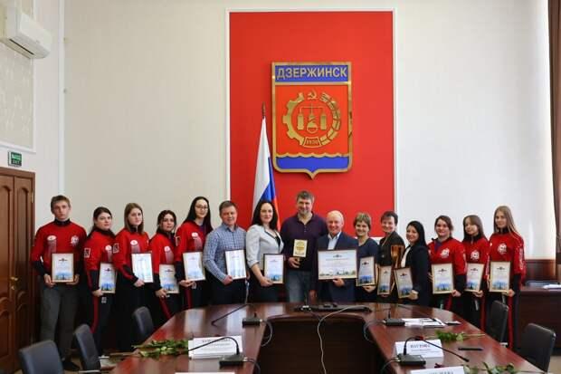 Глава Дзержинска встретился со спортсменами-победителями