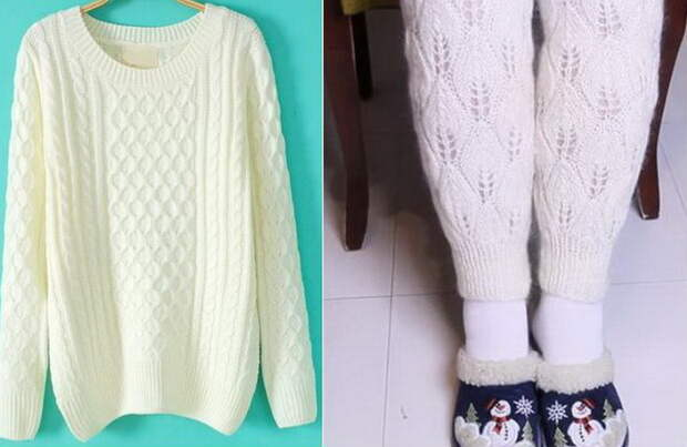 Как сделать теплые гетры из старого свитера.