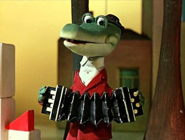 """кадр из мультфильма """"Крокодил Гена"""""""