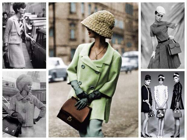 сумки в образе 60х годов