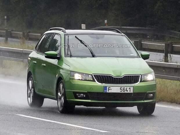 Новая Skoda Fabia примерила кузов универсал