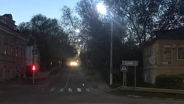 Уличное освещение восстановили на улице Фурманова в Подольске