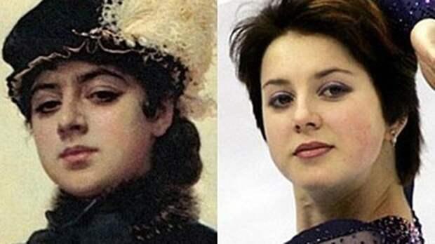 Шелест, Осборн и неизвестная с картины Крамского: Слуцкая нашла в интернете своих двойников
