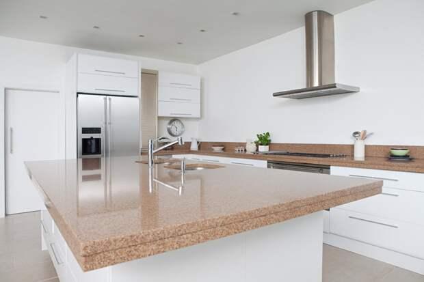 столешница песочного цвета для кухни в современном стиле