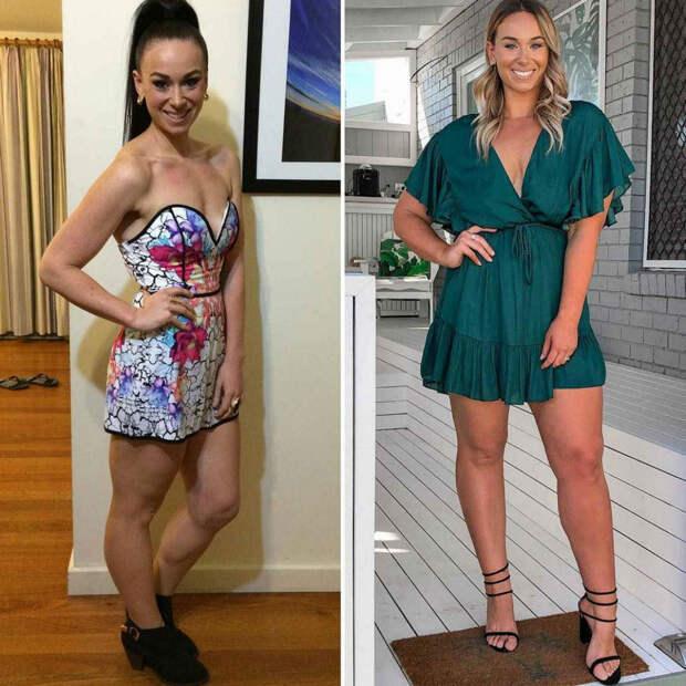 Слева — Кейт в период тренировок, справа она же через шесть лет