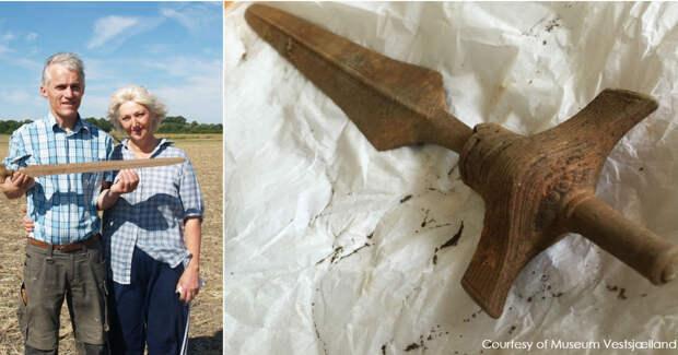 На огороде нашли меч викингов, которому 3000 лет. И он все еще острый!