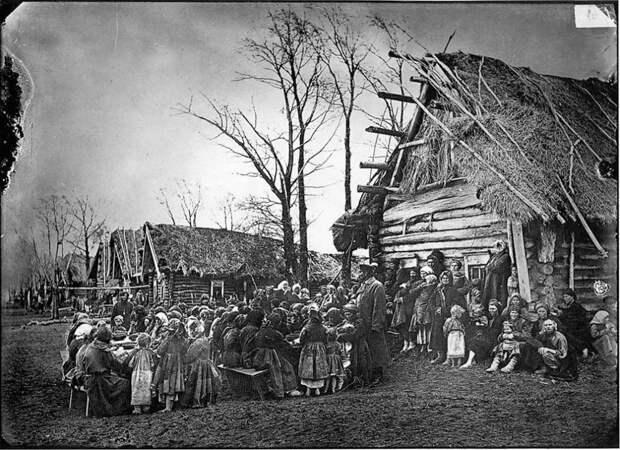 Народная столовая в деревне Пралевке Лукояновского уезда. 1891-1892 гг