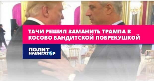 Тачи решил заманить Трампа в Косово бандитской побрекушкой