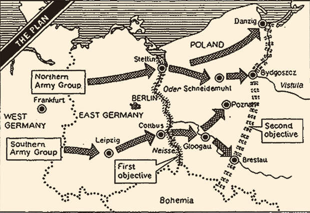 Согласно операции «Немыслимое», третья мировая война должна была начаться 1 июля 1945 г. внезапным ударом объединённых сил англосаксов по советским войскам.
