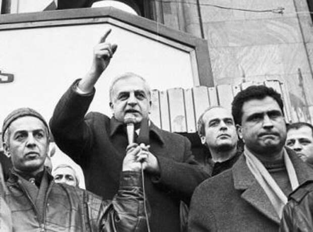 Звиад Гамсахурдиа. 28 апреля 1991 года
