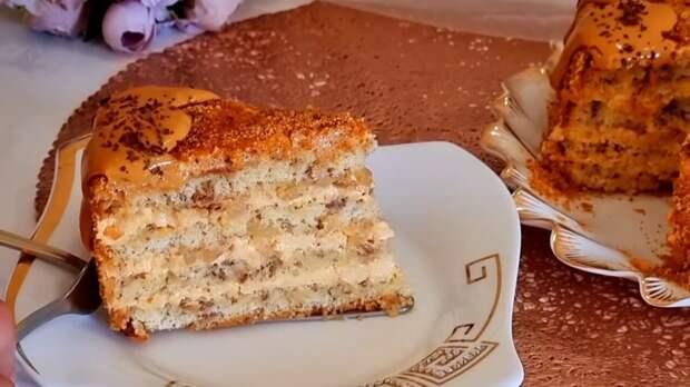 Восхитительно простой, но очень вкусный тортик самых из простых продуктов