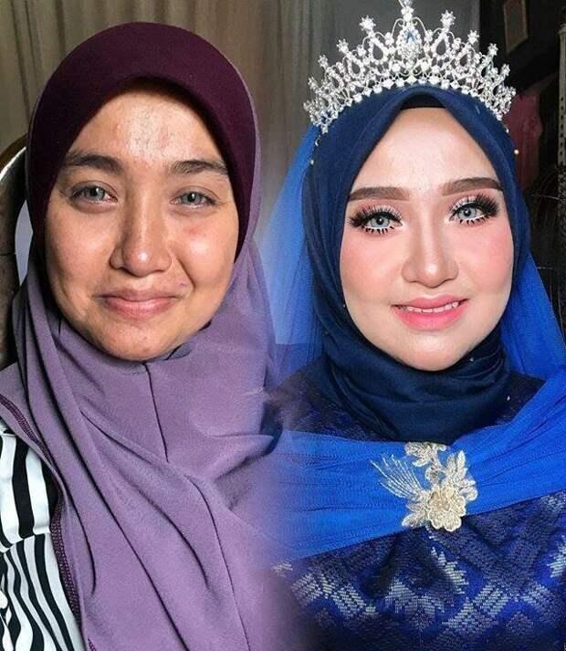 Обязательное условие свадебного азиатского макияжа — это осветление лица, так, по их мнению, оно будет выглядеть более благородно боевой раскрас, красота, люди, макияж, невеста, фото