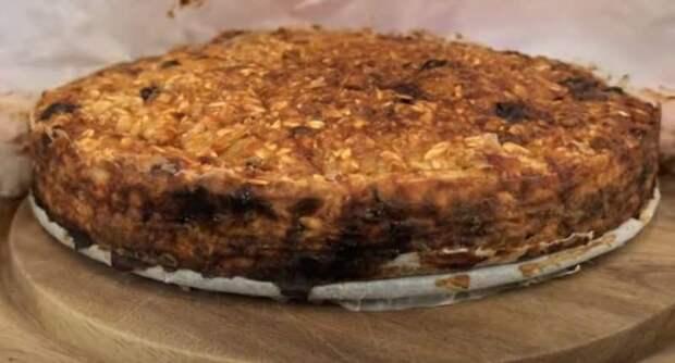 Пирог из овсянки на скорую руку