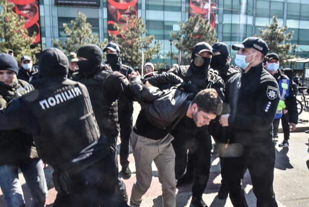 Разгон тарифного протеста в Одессе