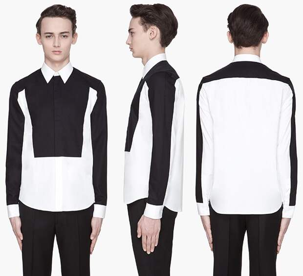 Контрастные мужские рубашки Givenchy + бонусы