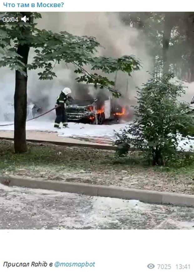 В Тимирязевском сгорело несколько автомобилей