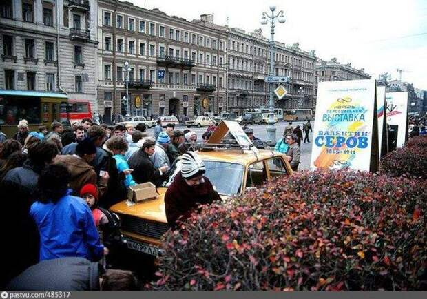 Ленинград в самом начале 90-х самом, 90-х, начале, Ленинград