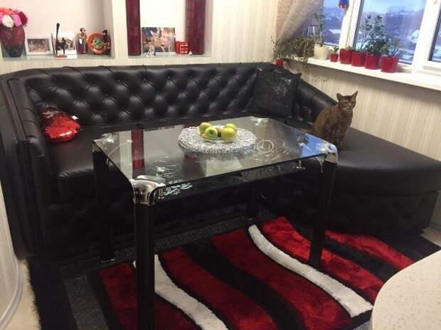 Впервые сам делаю черный диванчик в каретной стяжке