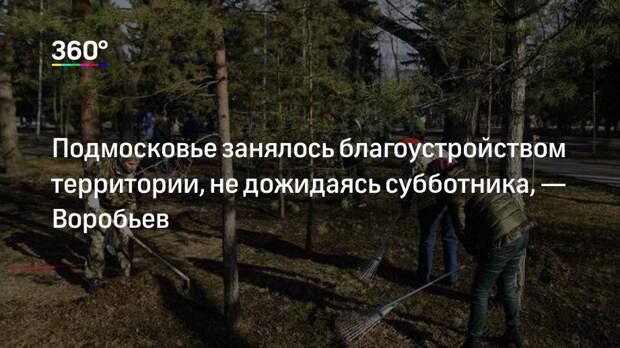 Подмосковье занялось благоустройством территории, не дожидаясь субботника,— Воробьев