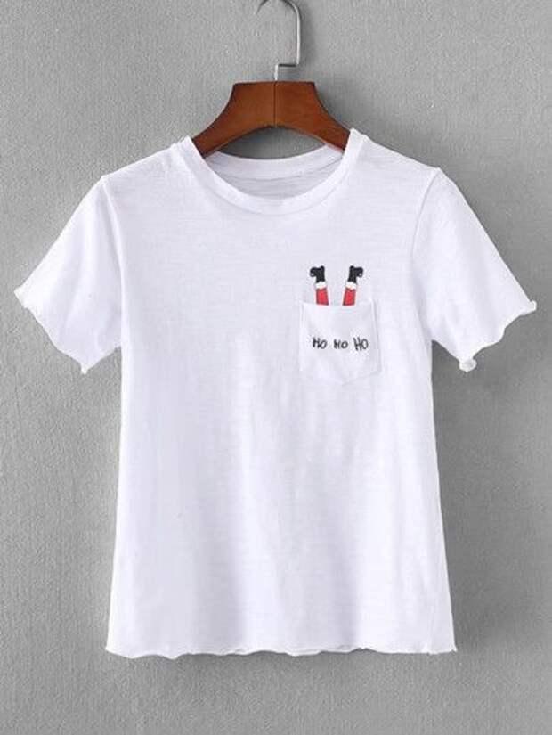 Идеи вышитых футболок