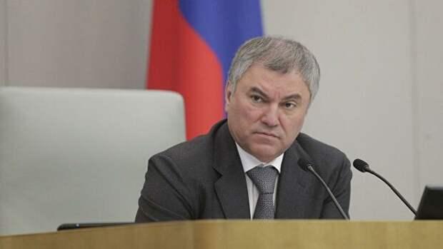 Володин предложил изучить вопрос налоговых отношений муниципалитетов