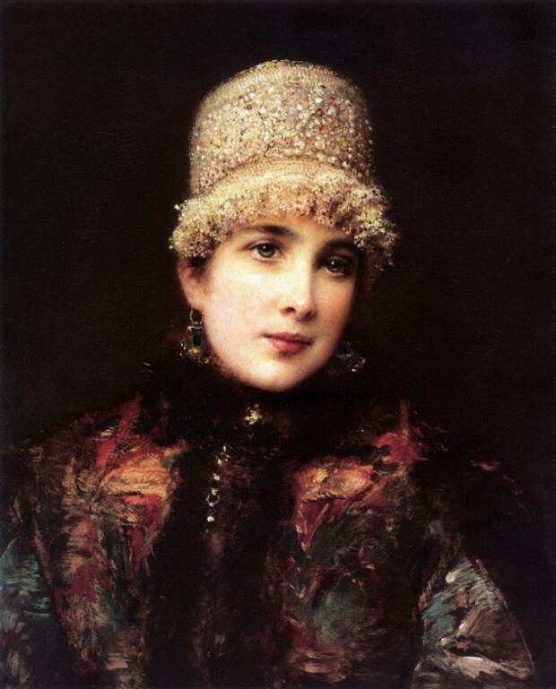 Константин Маковский, Русская красавица в кокошнике. 1890-е