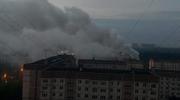 Столб дыма напугал жителей Куркина
