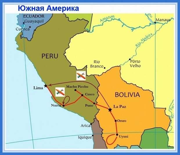 Плато Наска на карте