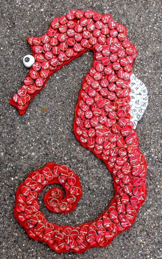 Крышки от бутылок — необычный материал для создания самодельных шедевров