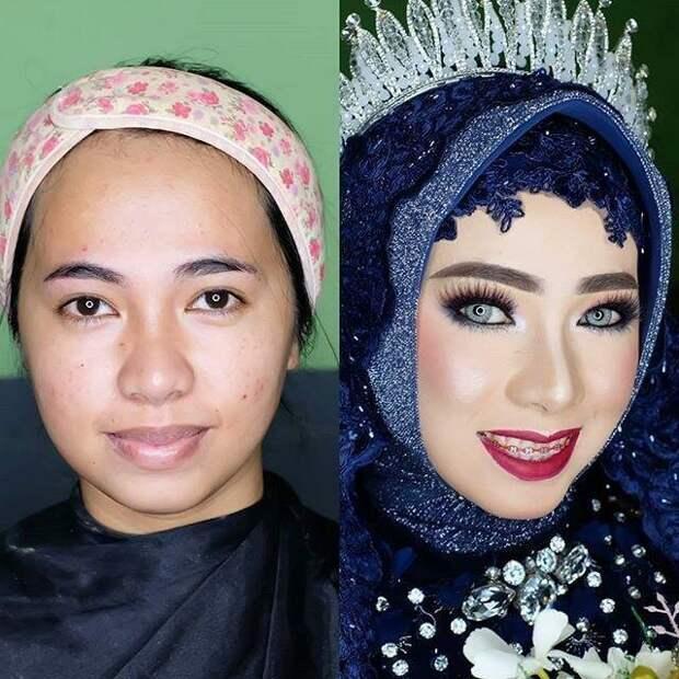 Но главное в свадебном макияже азиаток это глаза, им оказывается особое внимание боевой раскрас, красота, люди, макияж, невеста, фото