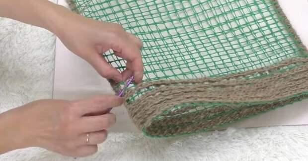 Пакеты больше не нужны: отличная идея из садовой сетки и джута