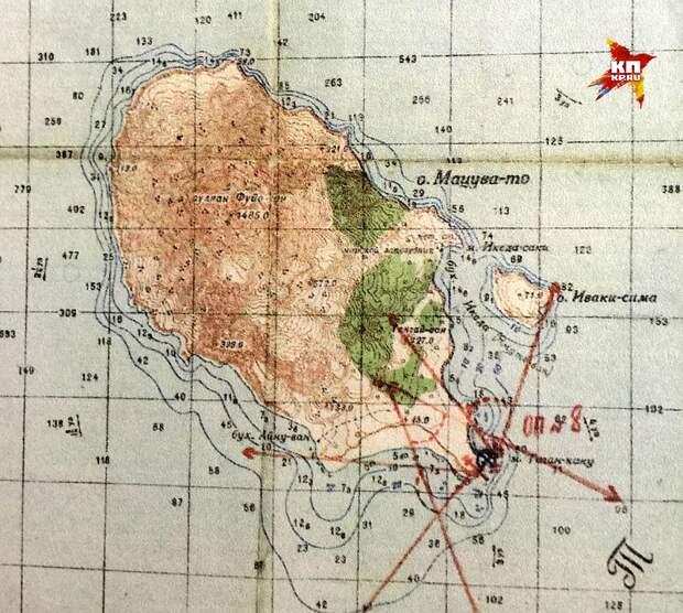 Старая карта острова Фото: Александр КОЦ, Дмитрий СТЕШИН