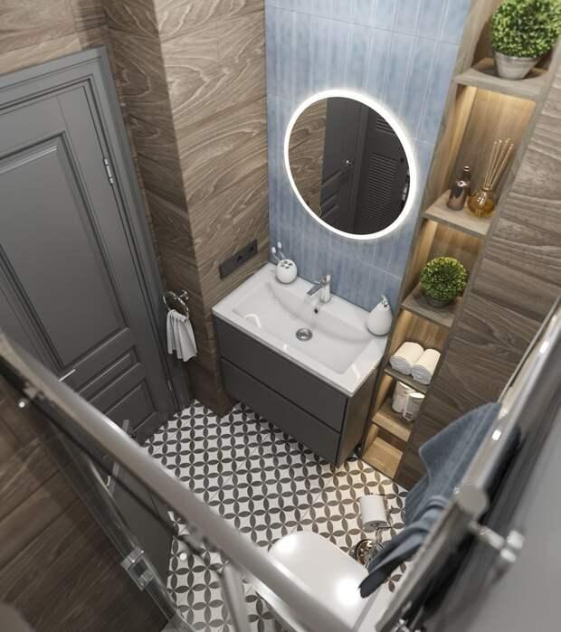 Как на 35 квадратах нашли место для кухни, гостиной, спальни и санузла