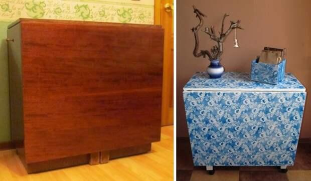Раскладной стол, переживший ни одно застолье, тоже получил второй шанс мебель, новая жизнь, переделка, старье