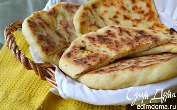 "Рецепт – Индийские лепешки ""Наан с сыром"" (Cheese naan)"