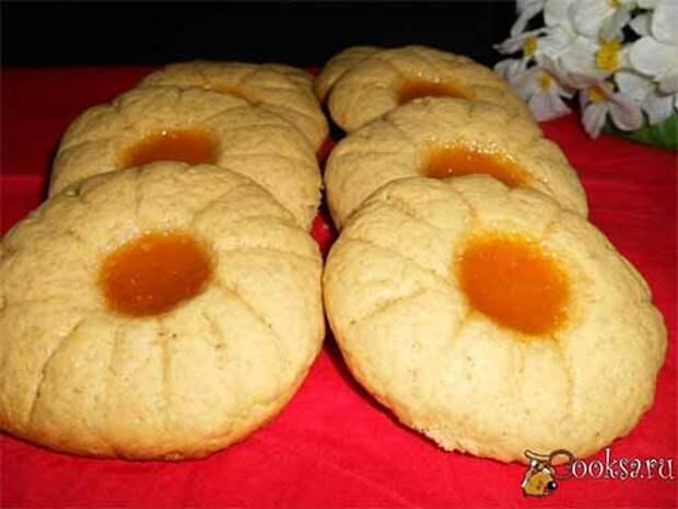 быстрое печенье солнышко