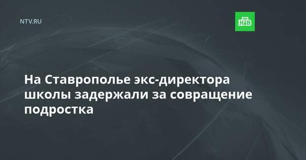 На Ставрополье экс-директора школы задержали за совращение подростка