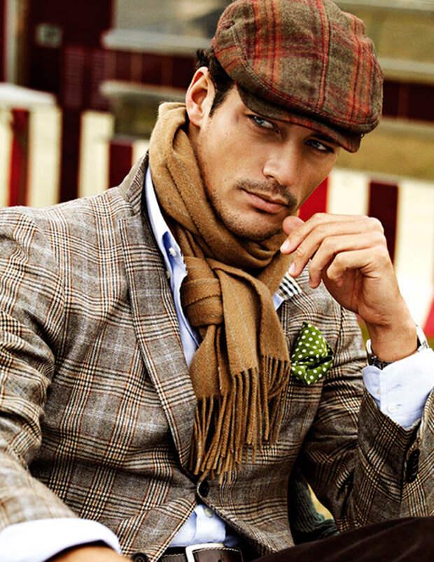 Мужские способы носить шарф