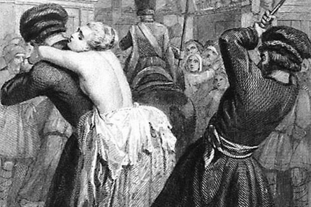 «Торговая казнь», шельмование идругие способы наказания, поражающие честь, анетело