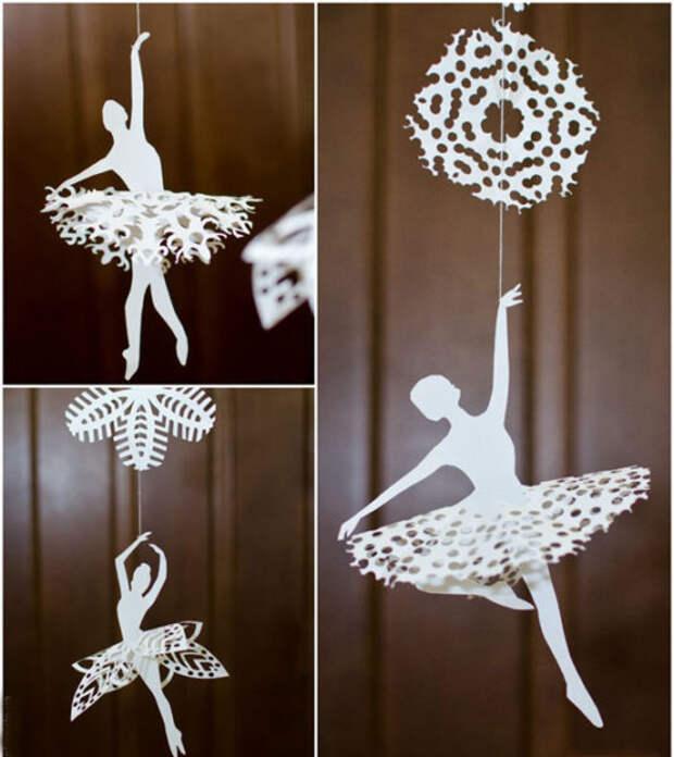 Как сделать балерину из бумаги своими руками. Вырезание балерины из бумаги по шаблону